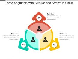 Three Segments With Circular And Arrows In Circle