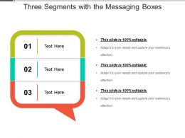 Three Segments With The Messaging Boxes