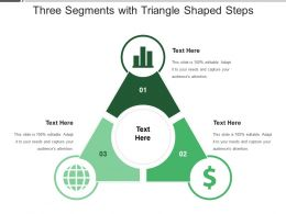 Three Segments With Triangle Shaped Steps