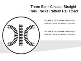 Three Semi Circular Straight Train Tracks Pattern Rail Road