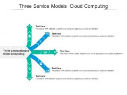 Three Service Models Cloud Computing Ppt PowerPoint Presentation File Example Cpb
