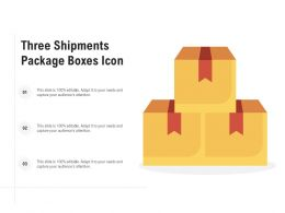 Three Shipments Package Boxes Icon