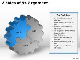 Three Sides Af An Argument Powerpoint Templates