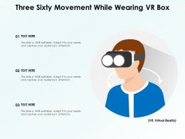 Three Sixty Movement While Wearing VR Box