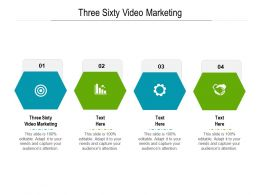 Three Sixty Video Marketing Ppt Powerpoint Presentation File Graphics Cpb