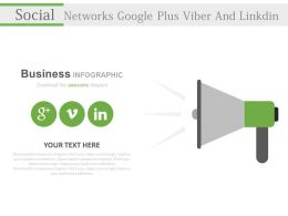 Three Social Networks Google Plus Viber And Linkdin Powerpoint Slides