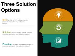Three Solution Options Ppt Examples Slides