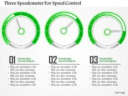 Three Speedometer For Speed Control Powerpoint Template