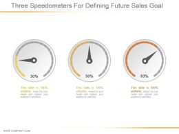 Three Speedometers For Defining Future Sales Goal Ppt Slide Examples