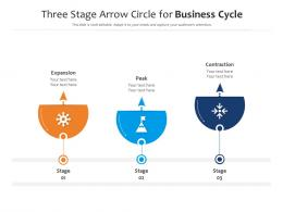 Three Stage Arrow Circle For Business Cycle