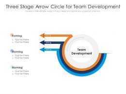 Three Stage Arrow Circle For Team Development