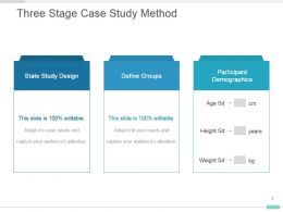 Three Stage Case Study Method Powerpoint Template Slide