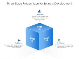 Three Stage Process Icon For Business Development
