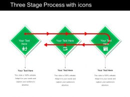 Three Stage Process With Icons