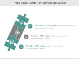 Three Stage Puzzle For Business Networking