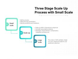 Three Stage Scale Up Process With Small Scale