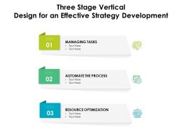 Three Stage Vertical Design For An Effective Strategy Development