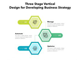 Three Stage Vertical Design For Developing Business Strategy