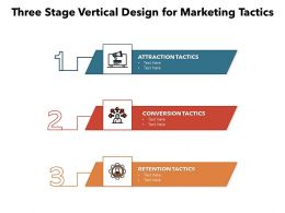 Three Stage Vertical Design For Marketing Tactics