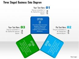 Three Staged Business Data Diagram Flat Powerpoint Design