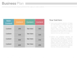 Three Staged Business Planning Diagram Powerpoint Slides