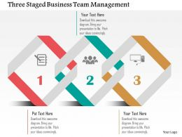 Three Staged Business Team Management Flat Powerpoint Design
