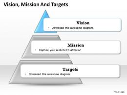 Three Staged Business Triangular Diagram 0214