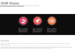 Three Staged Business Vision Analysis Powerpoint Slides
