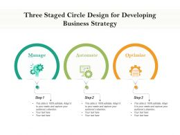 Three Staged Circle Design For Developing Business Strategy