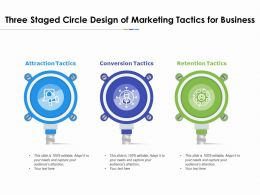 Three Staged Circle Design Of Marketing Tactics For Business