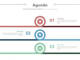 Three Staged Circle Infographic For Business Agenda Flat Powerpoint Design