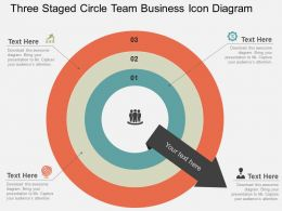 three_staged_circle_team_business_icon_diagram_flat_powerpoint_design_Slide01
