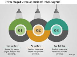 Three Staged Circular Business Info Diagram Flat Powerpoint Design