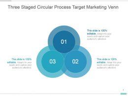 Three Staged Circular Process Target Marketing Venn Ppt Diagram