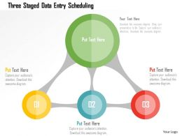 three_staged_data_entry_scheduling_flat_powerpoint_design_Slide01