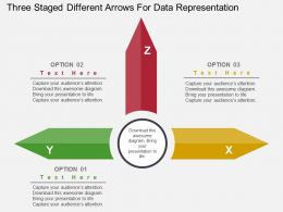 three_staged_different_arrows_for_data_representation_flat_powerpoint_design_Slide01