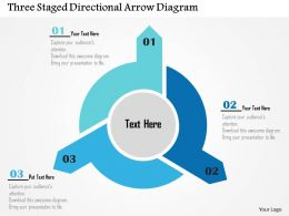 Three Staged Directional Arrow Diagram Flat Powerpoint Design