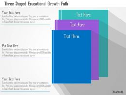 Three Staged Educational Growth Path Flat Powerpoint Design