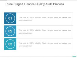 Three Staged Finance Quality Audit Process Ppt Design