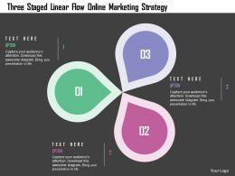 three_staged_linear_flow_online_marketing_strategy_flat_powerpoint_design_Slide01