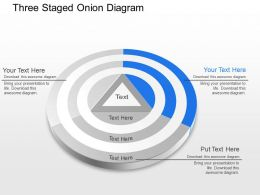Three Staged Onion Diagram Powerpoint Template Slide