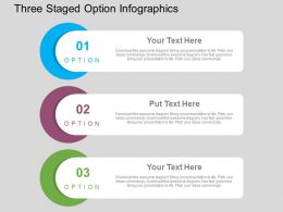 Three Staged Option Infographics Flat Powerpoint Design