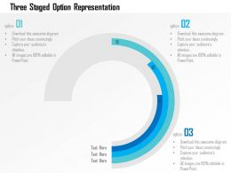 Three Staged Option Representation Flat Powerpoint Design