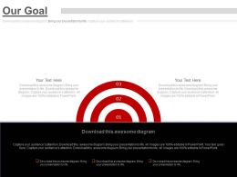 Three Staged Our Goal Chart Powerpoint Slides