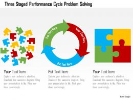 Three Staged Performance Cycle Problem Solving Flat Powerpoint Design