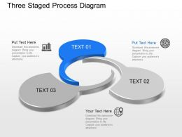Three Staged Process Diagram Powerpoint Template Slide