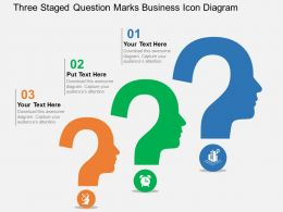 three_staged_question_marks_business_icon_diagram_flat_powerpoint_design_Slide01