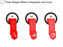 Three Staged Ribbon Infographic And Icons