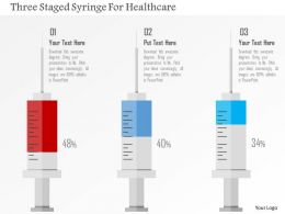 Three Staged Syringe For Healthcare Flat Powerpoint Design