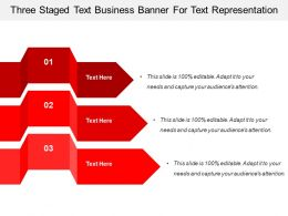 Three Staged Text Business Banner For Text Representation
